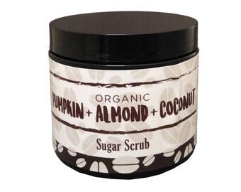 Organic Handmade Pumpkin Almond Coconut Sugar Scrub