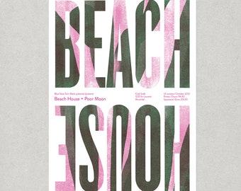 Beach House concert poster