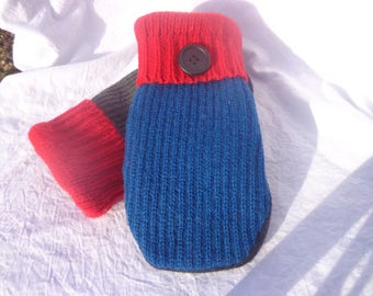 Ladies' 100% Felted Wool Mittens with Fleece Lining