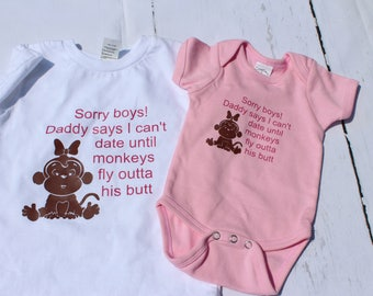 Sorry Boys; Funny Baby Clothes, Funny Onsies, Funny Baby Shirts,  Baby gifts, Toddler shirts