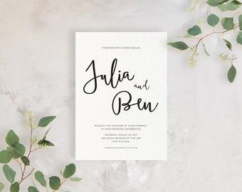 Wedding Invitation Sample - The Julia Suite