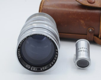 Canon lens for Leica cameras 135mm w/ finder screwmount