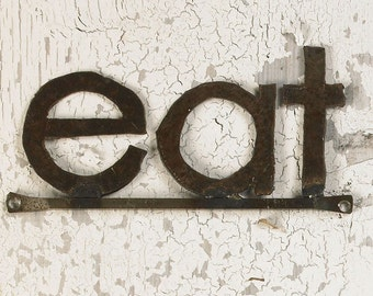 EAT Sign Decorative Wall Signage Eat Letters Kitchen Sign