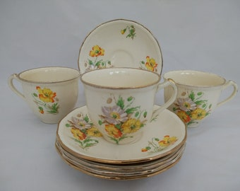 Alfred Meakin Densby Tea Cups and Saucers