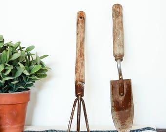 Superbe Vintage Gardening Tool Set, She Shed Decor, Rustic Garden Decor, Antique  Garden Tools, Potting Shed Decor For Shelves, Garden Lover Gift