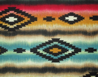 Ethnic Tribal Quilt Fabric 1/2 YD