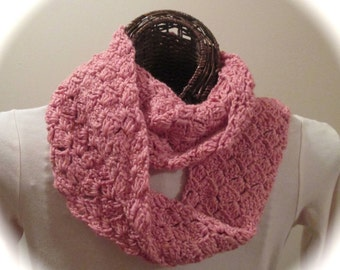 Hand-Crocheted Moebius Ring Cowl/Scarf in SilkWool