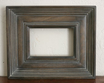 Sizes 12x16 to 16x20 Wood Picture Frame / Gray Washed Brown / Empire Style