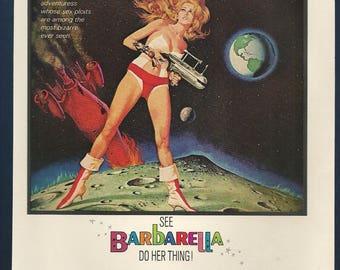 Barbarella Original Ad , Jane Fonda From 1970's Playboy