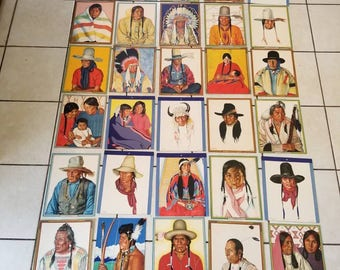 Free Shipping!! Great Northern Railway Native American Color Portraits Lot of 31