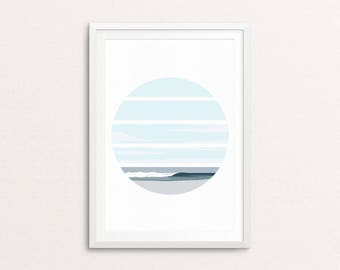 Mindsurf Perfection // Print, Ocean, Sea, Surf, Surfer, Surf Art, Surfboard, Wave, Sunset, Landscape, Poster, Art, Wall Art, Home Decor.