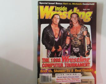 Inside Wrestling Magazine, April 1998, Bret Hart