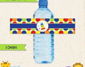 Music Party Waterproof Water Bottle Labels • Music Party • Drum • Xylophone • Maracas • First Birthday • Toddler Birthday • Stickers • 014C