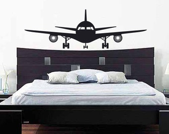 Airplane Wall Decal Plane Wall Decal - Airplane Vinyl Wall Decor & Airplane Wall Decals Plane Wall Decals Planes and Clouds 3D