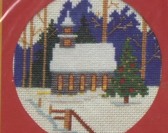 Silent Night Counted Cross-Stitch Card Kit