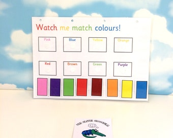 Learn colours, Matching game, Colour words, Teaching resource, KS1, Learn colors, Early learning, SEN, colour recognition