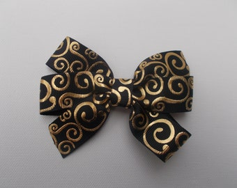 Black Gold Foil Hairbow