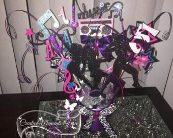 Girl Hip Hop\ Dance Birthday Table Centerpiece