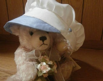 Sailor hat - Christening hat - boys christening hat - christening bonnet - Baptism hat - boys sailor hat