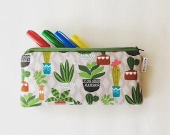 Succulent & Cactus Pencil Case - Planner Bag