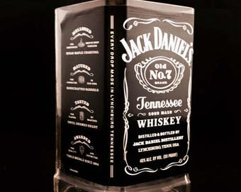 Recycled Jack Daniel's Whiskey Bottle Candle