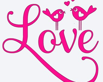 SVG Cut File for Cricut- Love Birds- Valentines Day - Wedding  - Anniversary