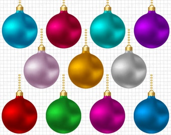 Christmas Balls Clipart, Christmas clipart Commercial Use, Holiday Clipart Christmas, Ornaments Christmas, Christmas Download, Scrapbook