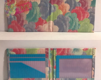 Cotton Candy Clouds Duct Tape Bifold Wallet