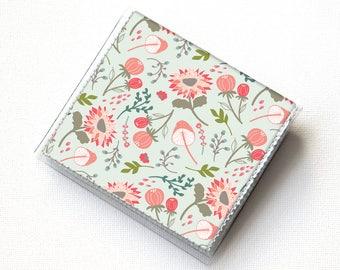 Vinyl Moo Square Card Holder - Springtime Flora / case, vinyl, snap, wallet, mini card case, moo case, square, floral, flowers, small, vegan