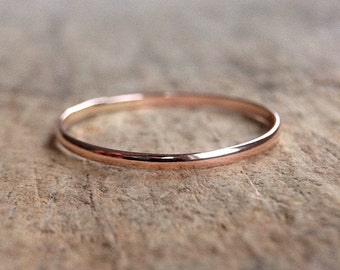 14K Rose Gold Filled Ring, Pink Gold Stacking Ring, Skinny Ring, Stackable Rings, Boho Luxe,  Bohemian Ring, Bohemian Jewelry