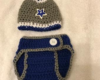Crochet Diaper Cover and Beanie
