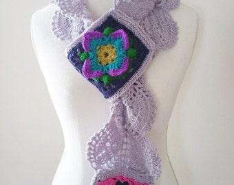 Crochet Pattern, Lacey Rock Cress Scarf, Women, Teen, Cowl, Vintage