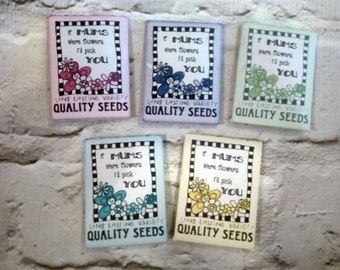 Mini Seed Pack - Wild Flower Seeds - Seed Pack - Seeds For Mum - Mothers Day Gift -  Garden Gift - Seed Bomb Alternative - Garden Seeds