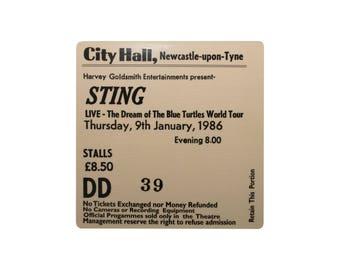 Coaster. Sting. Newcastle City hall. Newcastle