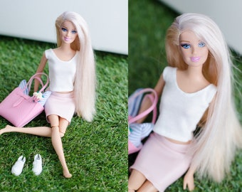 """Barbie outfit / Barbie clothes / clothes for fashion royalty, poppy Parker and etc /Barbie skirt (perfect fit for 11""""5 inch dolls)"""