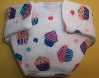 Cloth Doll diaper SIZE #2 ready to ship small cupcake fits Luvabella some Baby alive cabbage patch snackin sara stuffed animals and more