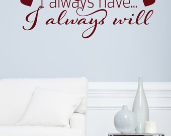 I Loved You Yesterday Decal - Home Vinyl Decal - Wall Decal - Wall Vinyl - Vinyl Decal - Wall Decor - Decals - Love Decals - Decal