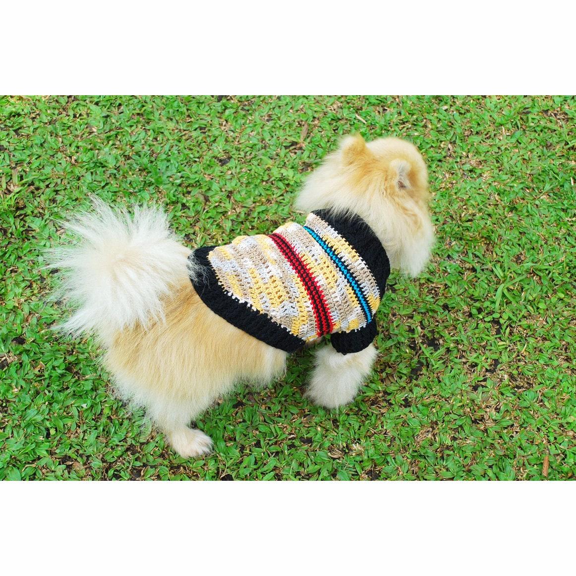 Hund Kleidung Beige rustikale Welpen Pullover Hundepullover