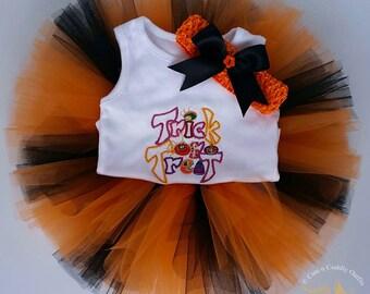 Baby Halloween Costume, Girl Halloween Tutu, Baby girl Halloween Costume, Trick or Treat Baby Halloween Costume, Baby Shower gift, Baby tutu