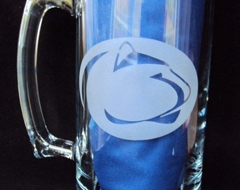 Custom Etched 25 oz  Beer Mug for Beer lovers, Sports Fan, Man Cave, For the Big Game,  by Jackglass on Etsy