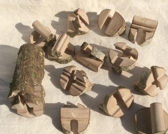 "Jigsaw puzzle 3D ""Hazel tree"" - 18 pieces with bark."