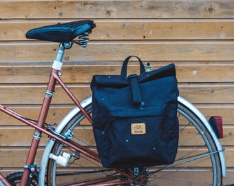 Backpack pannier, Rolltop backpack, bike bag, bicycle bag, bicycle accessories, bike backpackgift for cyclist, , cycling bag, city backpack