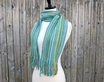 Crochet Pattern-- Simply Striped Scarf --Crochet Pattern