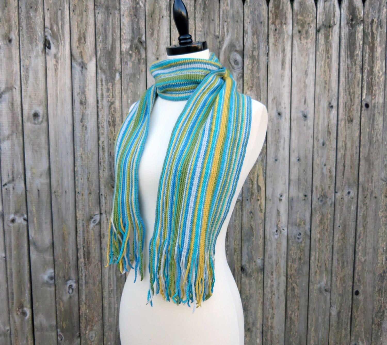 Crochet Pattern-- Simply Striped Scarf --Crochet Pattern from ...