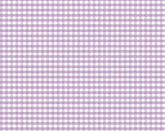 SALE Riley Blake Lavender Small Gingham SKU# C440-120 - multiple cut options available