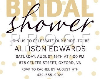 Bridal Shower Invitations, Invitations, Black & White Shower