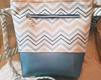 Shoulder bag, tote purse, everyday use purse, chevron