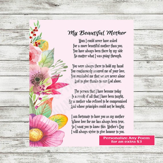 Sassy image throughout printable mother day poems