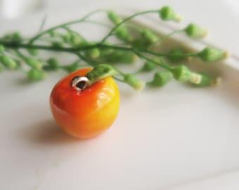 Apple Fruit Necklace - Fruit Jewelry - Fruit necklace - Miniature Food Jewelry