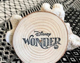 Disney Wonder Cruise Magnet, Fish Extender Gift, Disney Wonder, Fish Extender, Natural Wood, Handmade Vacation Souvenir